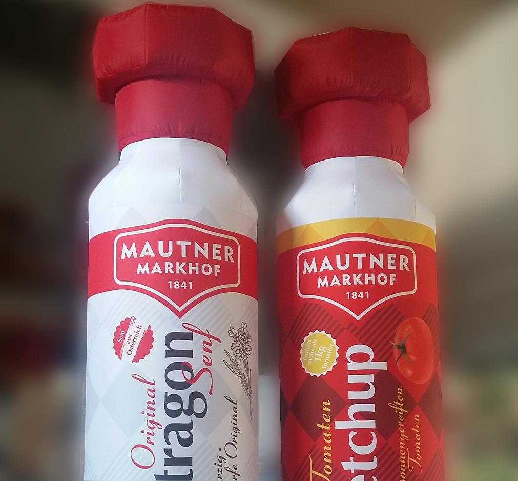 Aufblasbare Produktnachbildung Mautner Markhof