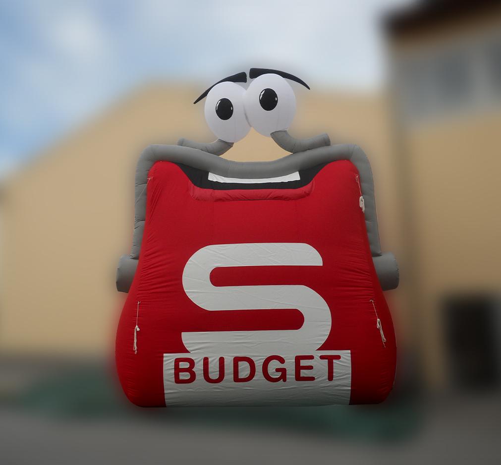 Aufblasbare Produktnachbildung S-Budget