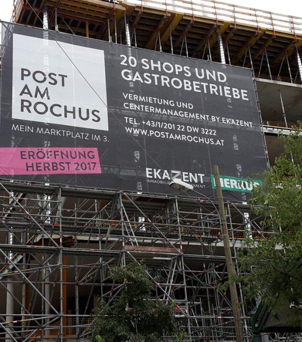 Baustellen Banner Post Rochus